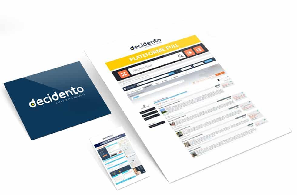 Fiches société et flux d'opportunités d'affaires Decidento pour améliorer votre connaissance client