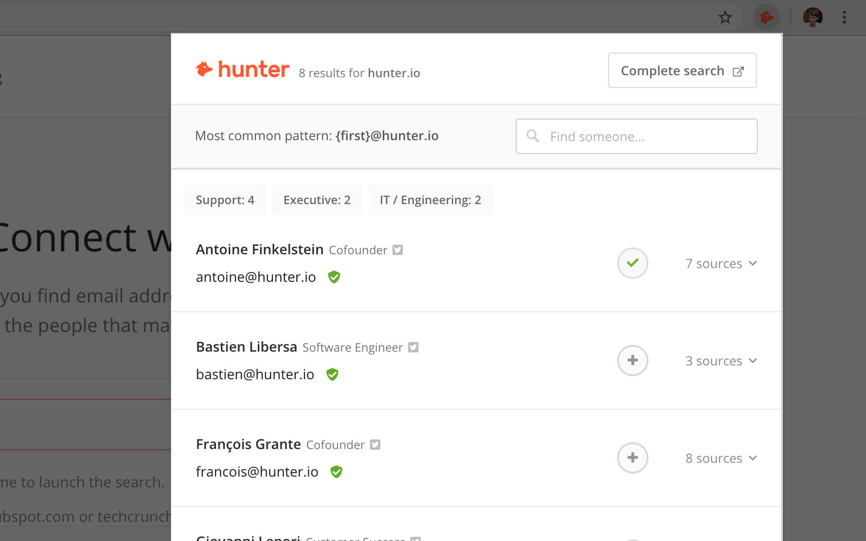 hunter.io