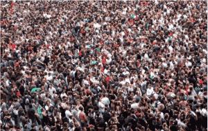 regroupement humain masse de données